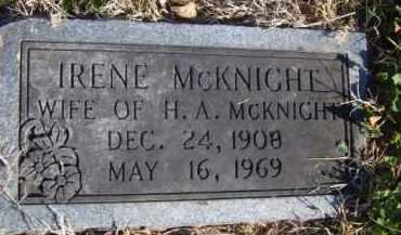 MCKNIGHT, IRENE - Benton County, Arkansas | IRENE MCKNIGHT - Arkansas Gravestone Photos