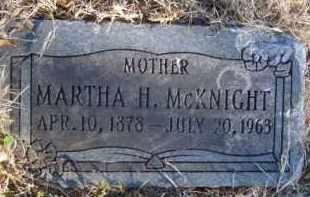 MCKNIGHT, MARTHA H. - Benton County, Arkansas   MARTHA H. MCKNIGHT - Arkansas Gravestone Photos