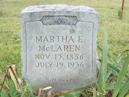 MCLAREN, MARTHA E. - Benton County, Arkansas   MARTHA E. MCLAREN - Arkansas Gravestone Photos