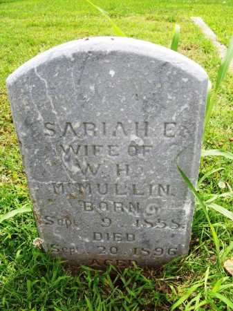 MCMULLIN, SARIAH E. - Benton County, Arkansas | SARIAH E. MCMULLIN - Arkansas Gravestone Photos