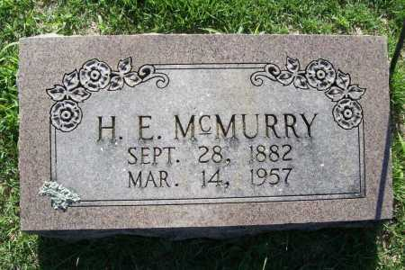 MCMURRY, H. E. - Benton County, Arkansas | H. E. MCMURRY - Arkansas Gravestone Photos