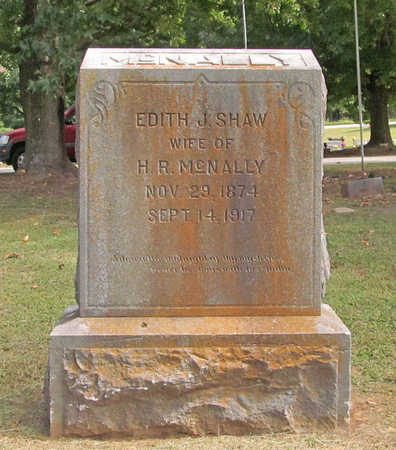 SHAW MCNALLY, EDITH J - Benton County, Arkansas | EDITH J SHAW MCNALLY - Arkansas Gravestone Photos