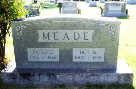 MEADE, RICHARD - Benton County, Arkansas | RICHARD MEADE - Arkansas Gravestone Photos