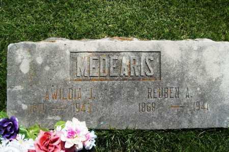 MEDEARIS, REUBEN A - Benton County, Arkansas | REUBEN A MEDEARIS - Arkansas Gravestone Photos