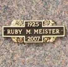 MEISTER, RUBY MAXINE - Benton County, Arkansas   RUBY MAXINE MEISTER - Arkansas Gravestone Photos