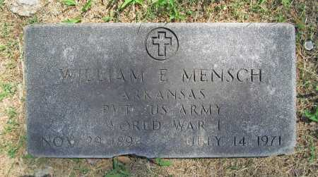 MENSCH (VETERAN WWI), WILLIAM ELEXANDER - Benton County, Arkansas | WILLIAM ELEXANDER MENSCH (VETERAN WWI) - Arkansas Gravestone Photos