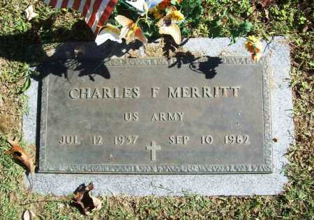MERRITT (VETERAN), CHARLES F - Benton County, Arkansas | CHARLES F MERRITT (VETERAN) - Arkansas Gravestone Photos