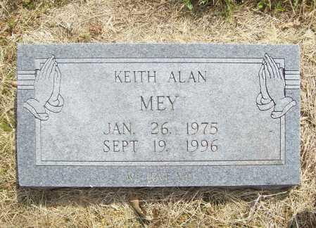 MEY, KEITH ALAN - Benton County, Arkansas | KEITH ALAN MEY - Arkansas Gravestone Photos