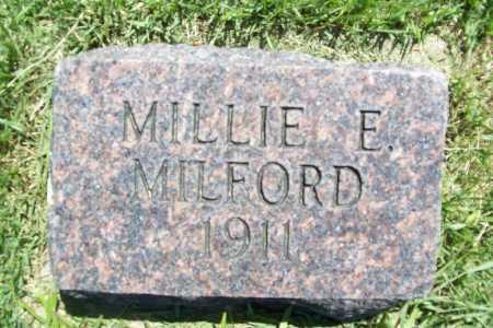 MILFORD, MILLIE E. - Benton County, Arkansas   MILLIE E. MILFORD - Arkansas Gravestone Photos