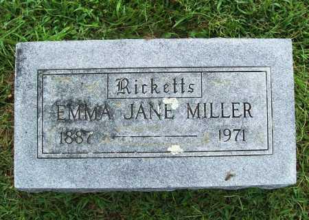 RICKETTS MILLER, EMMA JANE - Benton County, Arkansas | EMMA JANE RICKETTS MILLER - Arkansas Gravestone Photos