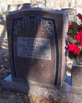 ROBINSON MILLER, JO ANN - Benton County, Arkansas | JO ANN ROBINSON MILLER - Arkansas Gravestone Photos