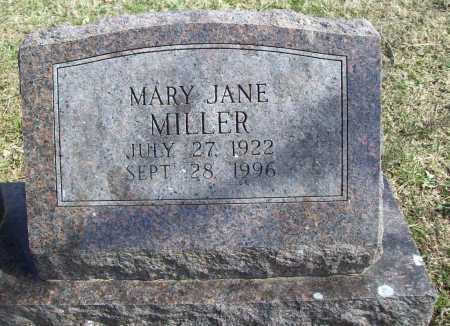 MILLER, MARY JANE - Benton County, Arkansas | MARY JANE MILLER - Arkansas Gravestone Photos