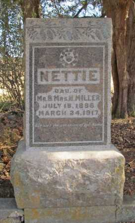 MILLER, NETTIE - Benton County, Arkansas   NETTIE MILLER - Arkansas Gravestone Photos