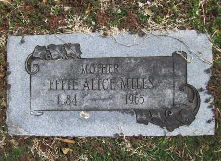 MILLS, EFFIE ALICE - Benton County, Arkansas   EFFIE ALICE MILLS - Arkansas Gravestone Photos