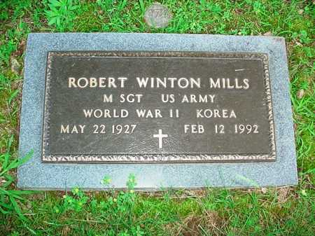 MILLS (VETERAN 2 WARS), ROBERT WINTON - Benton County, Arkansas | ROBERT WINTON MILLS (VETERAN 2 WARS) - Arkansas Gravestone Photos