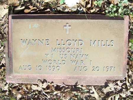 MILLS (VETERAN WWI), WAYNE LLOYD - Benton County, Arkansas | WAYNE LLOYD MILLS (VETERAN WWI) - Arkansas Gravestone Photos