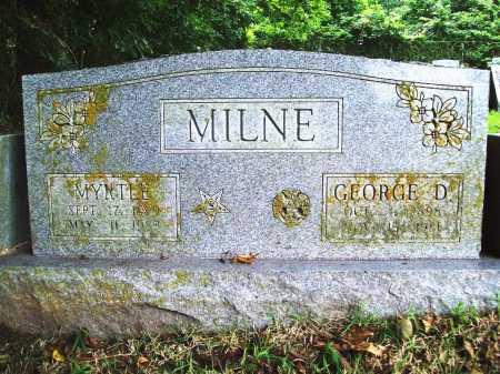 MILNE, GEORGE D. - Benton County, Arkansas | GEORGE D. MILNE - Arkansas Gravestone Photos