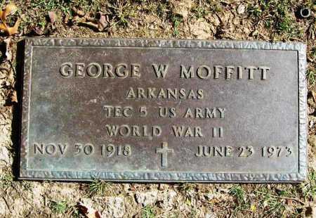 MOFFITT (VETERAN WWII), GEORGE W - Benton County, Arkansas   GEORGE W MOFFITT (VETERAN WWII) - Arkansas Gravestone Photos