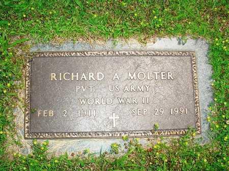 MOLTER (VETERAN WWII), RICHARD A. - Benton County, Arkansas | RICHARD A. MOLTER (VETERAN WWII) - Arkansas Gravestone Photos