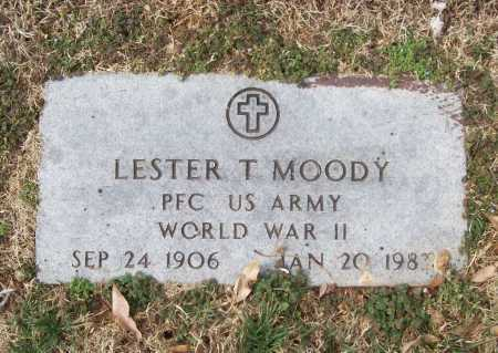 MOODY (VETERAN WWII), LESTER T - Benton County, Arkansas   LESTER T MOODY (VETERAN WWII) - Arkansas Gravestone Photos