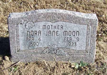 MOON, NORA JANE - Benton County, Arkansas | NORA JANE MOON - Arkansas Gravestone Photos