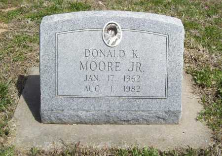 MOORE, DONALD K. JR. - Benton County, Arkansas   DONALD K. JR. MOORE - Arkansas Gravestone Photos