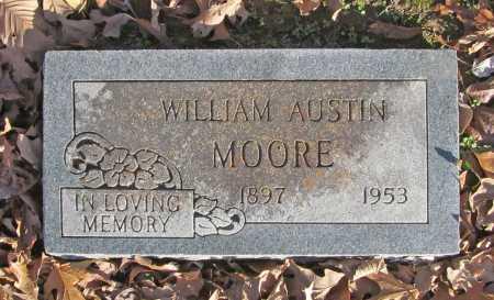 MOORE, WILLIAM AUSTIN - Benton County, Arkansas | WILLIAM AUSTIN MOORE - Arkansas Gravestone Photos