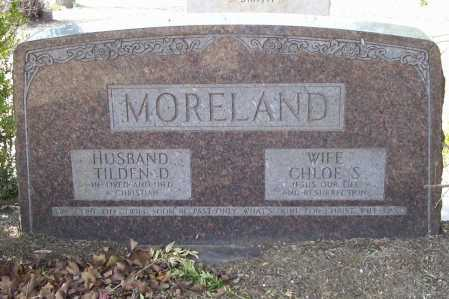 MORELAND, TILDEN D - Benton County, Arkansas | TILDEN D MORELAND - Arkansas Gravestone Photos