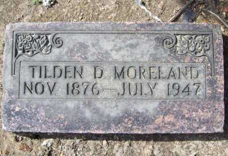MORELAND, TILDEN D (ORIGINAL) - Benton County, Arkansas | TILDEN D (ORIGINAL) MORELAND - Arkansas Gravestone Photos