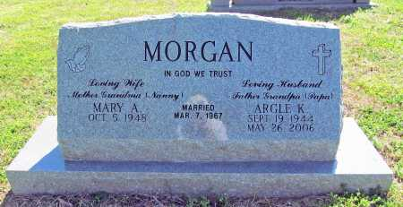 MORGAN, ARGLE K. - Benton County, Arkansas | ARGLE K. MORGAN - Arkansas Gravestone Photos