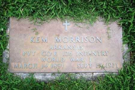 MORRISON (VETERAN WWI), KEM - Benton County, Arkansas | KEM MORRISON (VETERAN WWI) - Arkansas Gravestone Photos