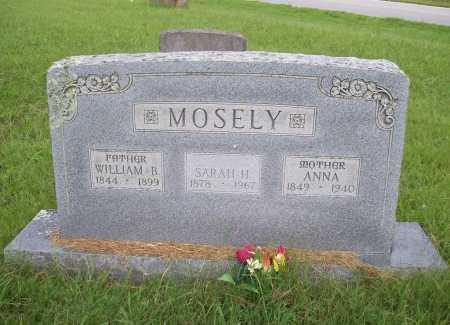 MOSELY, ANNA - Benton County, Arkansas | ANNA MOSELY - Arkansas Gravestone Photos