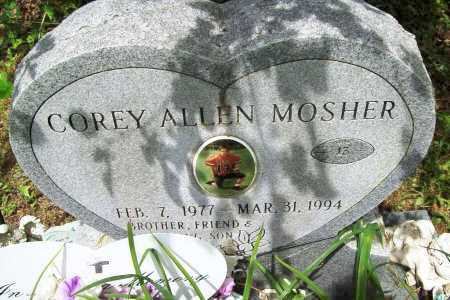 MOSHER, COREY ALLEN - Benton County, Arkansas | COREY ALLEN MOSHER - Arkansas Gravestone Photos