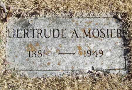 MOSIER, GERTRUDE A. - Benton County, Arkansas | GERTRUDE A. MOSIER - Arkansas Gravestone Photos