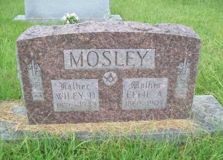 MOSLEY, EFFIE A. - Benton County, Arkansas | EFFIE A. MOSLEY - Arkansas Gravestone Photos