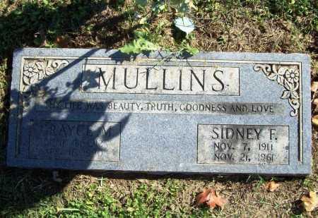 MULLINS, SIDNEY F. - Benton County, Arkansas | SIDNEY F. MULLINS - Arkansas Gravestone Photos