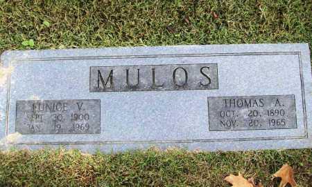 MULOS, EUNICE V. - Benton County, Arkansas   EUNICE V. MULOS - Arkansas Gravestone Photos