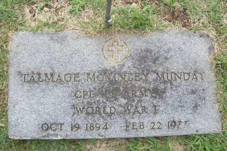 MUNDAY (VETERAN WWI), TALMAGE MCKINLEY - Benton County, Arkansas | TALMAGE MCKINLEY MUNDAY (VETERAN WWI) - Arkansas Gravestone Photos