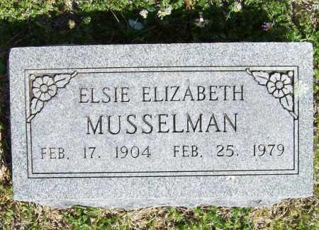 MUSSELMAN, ELSIE ELIZABETH - Benton County, Arkansas | ELSIE ELIZABETH MUSSELMAN - Arkansas Gravestone Photos