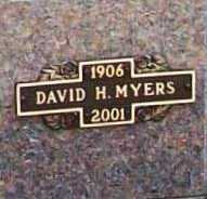 MYERS, DAVID H. - Benton County, Arkansas | DAVID H. MYERS - Arkansas Gravestone Photos
