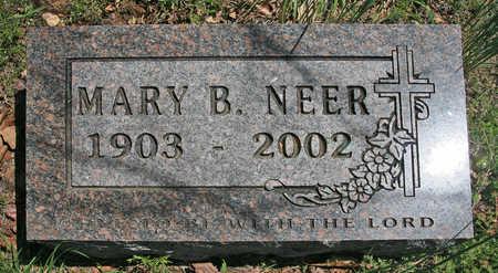 NEER, MARY B - Benton County, Arkansas   MARY B NEER - Arkansas Gravestone Photos