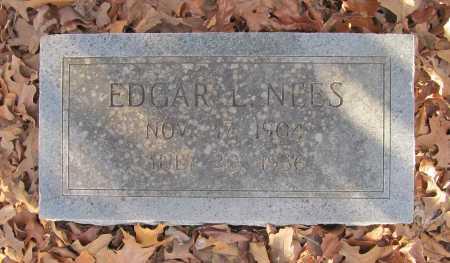 NEES, EDGAR LINDSEY - Benton County, Arkansas | EDGAR LINDSEY NEES - Arkansas Gravestone Photos