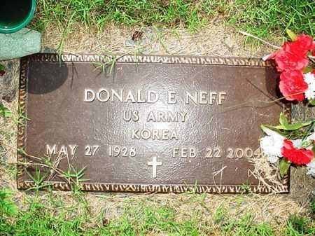 NEFF (VETERAN KOR), DONALD E. - Benton County, Arkansas | DONALD E. NEFF (VETERAN KOR) - Arkansas Gravestone Photos