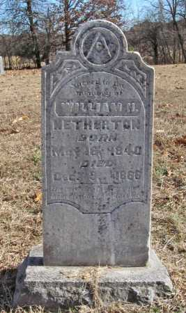 NETHERTON, WILLIAM H. - Benton County, Arkansas | WILLIAM H. NETHERTON - Arkansas Gravestone Photos