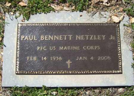 NETZLEY, JR (VETERAN), PAUL BENNETT - Benton County, Arkansas | PAUL BENNETT NETZLEY, JR (VETERAN) - Arkansas Gravestone Photos