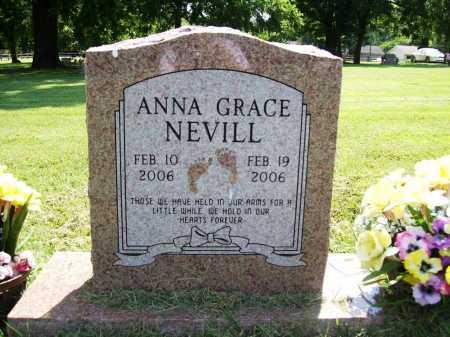 NEVILL, ANNA GRACE - Benton County, Arkansas | ANNA GRACE NEVILL - Arkansas Gravestone Photos