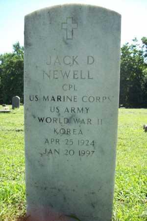 NEWELL (VETERAN 2 WARS), JACK D. - Benton County, Arkansas | JACK D. NEWELL (VETERAN 2 WARS) - Arkansas Gravestone Photos