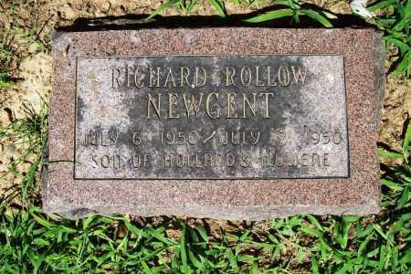 NEWGENT, RICHARD ROLLOW - Benton County, Arkansas | RICHARD ROLLOW NEWGENT - Arkansas Gravestone Photos