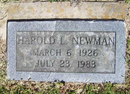 NEWMAN, HAROLD L. - Benton County, Arkansas | HAROLD L. NEWMAN - Arkansas Gravestone Photos