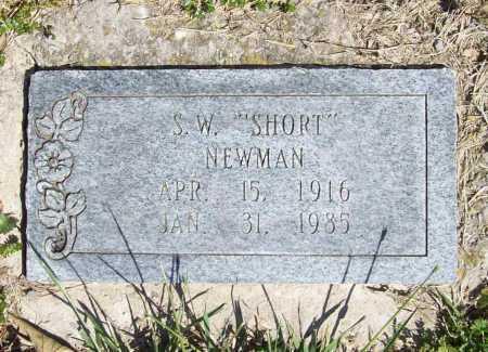 "NEWMAN, S. W. ""SHORT"" - Benton County, Arkansas   S. W. ""SHORT"" NEWMAN - Arkansas Gravestone Photos"
